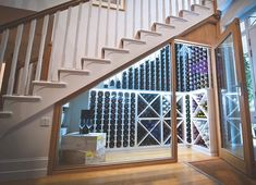 Vintage idea: A wine rack by John Lewis - the company offers bespoke wine storage for tricky areas
