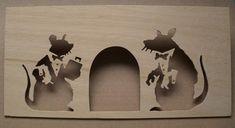 Banksy Rat Doormen Wooden Stencil