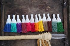"Dip Dye Tassels, Tie Dyed Ombré Handmade Cotton Jewelry Tassels, Boho Fashion Trend, 3.5"", 3+ Pieces, You Choose From 12 Colors - WomanShopsWorld"