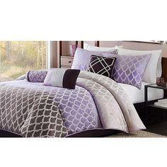 Madison Park Bayer 7-Piece Comforter Set in Purple