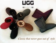 Trends come and go, only classic that never goes out of style. Classic Ugg Boots, Ugg Classic, Come And Go, Out Of Style, Uggs, Going Out, Trends, Shoes, Fashion