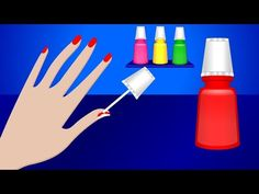Learn Colors with Nail Art | Colours to Kids Children Toddlers Baby Play Videos - YouTube