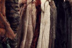 Vintage Furs at Hay Does Vintage in Hay-on-Wye.