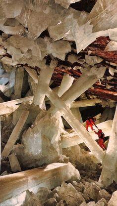 Crystal caves . Naica, Chihuahua Mexico