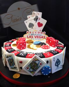Las Vegas casino cake