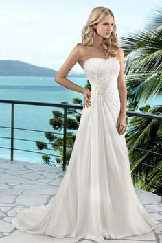 2016 A Line Sweetheart Wedding Dresses With Applique And Ruffles