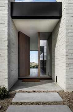 Boneo Road by B.E Architecture – Project Gallery – The Local Project Staircase Design Modern, Foyer Design, Entrance Design, House Design, Entrance Foyer, Entry Hallway, House Entrance, Contemporary Front Doors, Modern Front Door