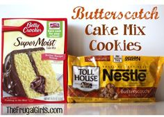Butterscotch Cake Mix Cookie Recipe ~ from TheFrugalGirls.com {they're SO delicious, and yes... a little addictive!} #cookies #recipes