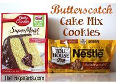 Butterscotch Cake Mix Cookie Recipe
