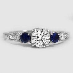 Zirkonia Selected Material Initiative Damen-ring / Verlobungsring 925 Sterlingsilber Schwarz