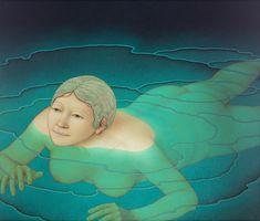 Dick Pieters Het lichten van het water, 2017 Oil on panel 67 x 57 cm Small Moments, Wassily Kandinsky, Love And Respect, Kinds Of People, Simple Shapes, Vincent Van Gogh, One Color, Contemporary Artists, Habitats
