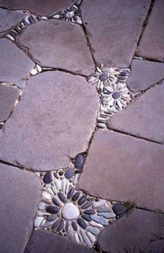 Great idea...would also give some lingevity to cracked and broken pavement and concrete walkways... I'm going to try this! I might try to use different materials too. :)