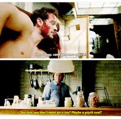 """You sure you don't want an X-ray? Maybe a psych eval?"" - Matt and Foggy #Daredevil"