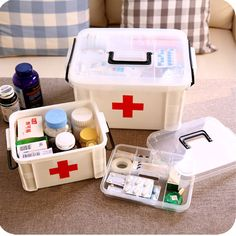 Urijk Family Home Portable Medicine Chest Cabinet Health Care Plastic Drug First Aid Kit Box Storage Box Chest of Drawers #Affiliate