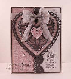 Stamps - Our Daily Bread Designs Clean Heart, Heart and Soul Paper Collection, ODBD Custom Ornate Hearts Dies, ODBD Custom Beautiful Borders Dies