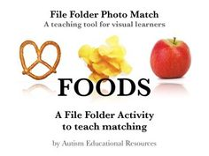 FREE Autism File Folder Picture Match - Foods