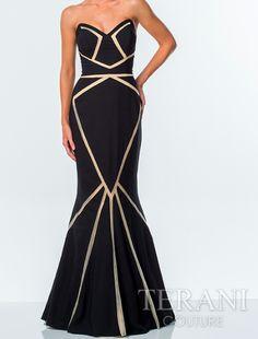 Terani Couture 051P0066 Strapless Gown | Cynthia Steele