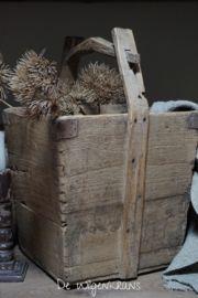 Originele oude houten rijstbak