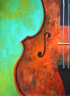 """""""Cello, Paintings of Musical Instruments by Arizona Artist Amy Whitehouse"""" - Original Fine Art for Sale - ©Amy Whitehouse"""