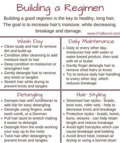 Building a natural hair regimen More Tips on how to do natural hair care ? Natural Hair Regimen, Natural Hair Care Tips, Natural Hair Styles, Relaxed Hair Regimen, Natural Hair Products, 3c Natural Hair, Natural Haircare, Going Natural, Low Porosity Hair Products