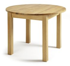 Sutton Extending Round Solid Oak Dining Table