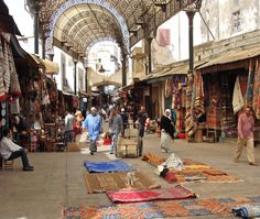 SHOPPING. Souk Semarine. Your first mission is to find rue Semarine, one of the two main souk arteries stretching north. From Djema el Fna take the street just to the left of the Caf Argana, which leads into the small Bab Fteuh square and then keep bearing rig