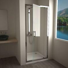Porte de douche pivotante Water, 80 à 90 cm