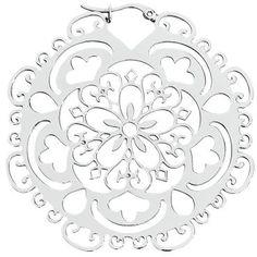 Oryginalne kolczyki Wildcat - Flower Hoop Silver   Materiał: stal nierdzewna Grubość: 1,2 mm. Średnica: 6 cm. Mogą być noszone jako wisiorki w tunelu. Przyjazne dla skóry. Mogą być noszone przez osoby z alergiami.