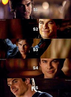 Throughout the seasons <3 Damon Salvatore - The Vampire Diaries ♥