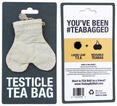Reusable Testicle Tea Bag Gives That Jerk A Taste of Deez Nuts - #balls #gag #prank