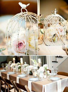 bird cages make cute centerpieces