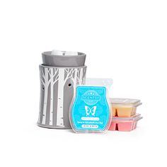 Mother's Day Aspen Grove Bundle -  Celebrate Mum with a Mother's Day Warmer Bundle. The Aspen Grove Warmer Bundle includes an Aspen Grove Warmer, Simply Vanilla Scentsy Bar, Lovely Lychee Scentsy Bar and Honeymoon Hideaway Scentsy Bar.