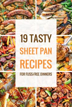 19 Tasty Sheet Pan Recipes for Fuss-Free Dinners – Community Table One Pan Meals, Quick Meals, Weeknight Meals, Paleo Dinner, Dinner Recipes, Dinner Ideas, Meal Ideas, Sheet Pan Suppers, Cooking Recipes
