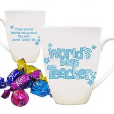 Personalised Worlds Best Teacher Mug - Pink or Blue  from Personalised Gifts Shop - ONLY £9.95