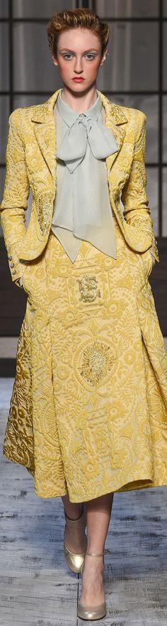 Schiaparelli fall 2015 couture ~ETS #schiaparelli #couture #yellow