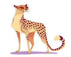 Cheetah by Heather Nesheim (Daily Cat Drawings) Cheetah Drawing, Cat Drawing, Big Cats Art, Cat Art, Chat Oriental, Character Illustration, Illustration Art, Cat Sketch, Cheetahs