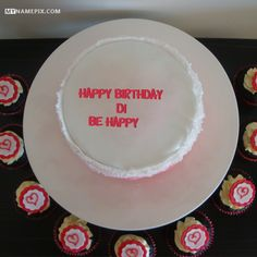 The name [di] is generated on Birthday Cake Wish With Name image. Download and share Birthday Cake With Name images and impress your friends.