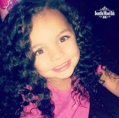 Skylynn Capri - 3 Years • African American, Native American, Irish & Inuit ❤ FOLLOW @beautifulmixedkids on instagram