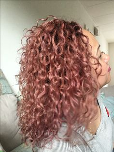 23 Trendy Rose Gold Hair Color Ideas Curly Hair