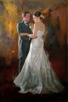 Wedding Painting Art Bride Images Dance Paintings Portrait