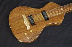 Asher Electro Hawaiian Model I lap steel with vintage style rope binding