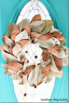 magnolia leaf wreath