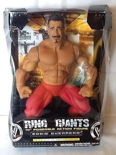 WWE Ring Giants Eddie Guerrero Poseable Action Figure Factory Articul for sale online Eddie Guerrero, Wwe Wallpapers, Custom Action Figures, Iron Gates, Professional Wrestling, Wwe Wrestlers, Video Games, Baseball Cards, Ring