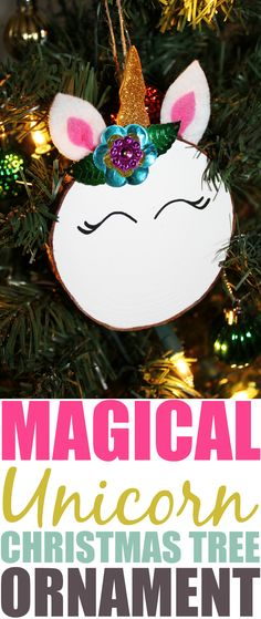 Kids will have a blast making a magical Unicorn Christmas tree ornament. They'd also make great gifts to give to family with a handprint on the back!