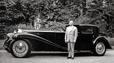 Fritz Schlumpf with Buggati Type 41 Coupe Napolean Royale