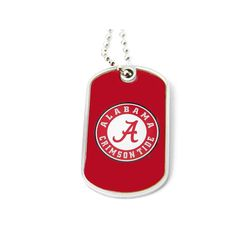 Aminco Alabama Tide Dog Tag Necklace
