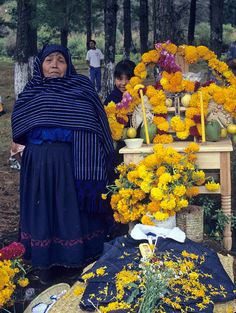 "artfromthefuture: ""Day of the Dead Vigil by Ilhuicamina on Flickr. A Purepecha woman spends the Dia de los Muertos beside the grave of a loved one in Michoacan Mexico """