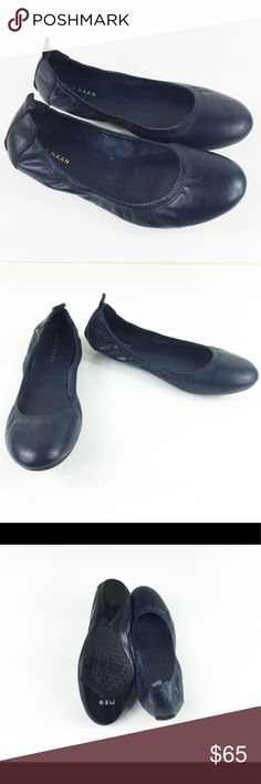 COLE HAAN NAVY LEATHER GRAND FLEX BALLERINA FLATS COLE HAAN NAVY LEATHER GRAND FLEX BALLERINA FLATS in size 6. Brand new without box, made with real leather suede, true to size. super lush and comfy! Cole Haan Shoes Flats & Loafers