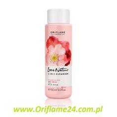 Love Nature 2-in-1 Cleanser Wild Rose - Mleczko oczyszczające 2-w-1 z dziką różą Love Nature Oriflame. Mleczko z formułą 2-w-1 zawierającą odżywczy olejek z dzikiej róży, który skutecznie oczyszcza i usuwa makijaż nie przesuszając skóry, a także pozostawia cerę odżywioną, nawilżoną i zmiękczoną. Rozprowadzaj na skórze rano i wieczorem używając płatków kosmetycznych. 150 ml