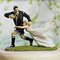 'Love Match' Rugby Figurine Cake Topper